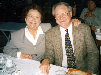 Photo of Marie-Claire Alain and George Baker